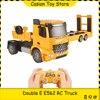 RC קרוואן משאית רכב דגם 2.4Ghz בנייה טרקטור קרוואן זחל שלט רחוק Flipable שטוחה רכב צעצוע לילד