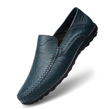 Men Shoes Moccasins Formal Black Genuine-Leather Casual Slip On Male Summer Luxury Brand