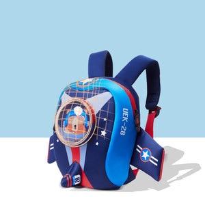 Image 5 - Anti perso Bambini Borse da Scuola 3D Del Fumetto A Forma di Aeroplano di Disegno Zaino per le Ragazze Dei Ragazzi Aeromobili borse mochila infantil Escolares