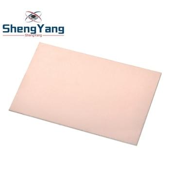 1 Uds. Pcb Fr4 7x10cm 7*10 Placa de revestimiento de cobre de un solo lado Diy Pcb Kit placa de circuito laminado