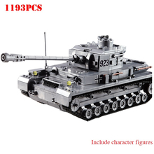 1193PCS Building Blocks Toy Large Panze Tank Blocks Figures Military Army Warld War Bricks Compatible City Weapon Bricks Toy