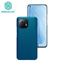 Para xiaomi mi 11 lite caso do telefone nillkin alta qualidade super fosco escudo caso de plástico duro capa traseira para xiaomi 11 lite caso