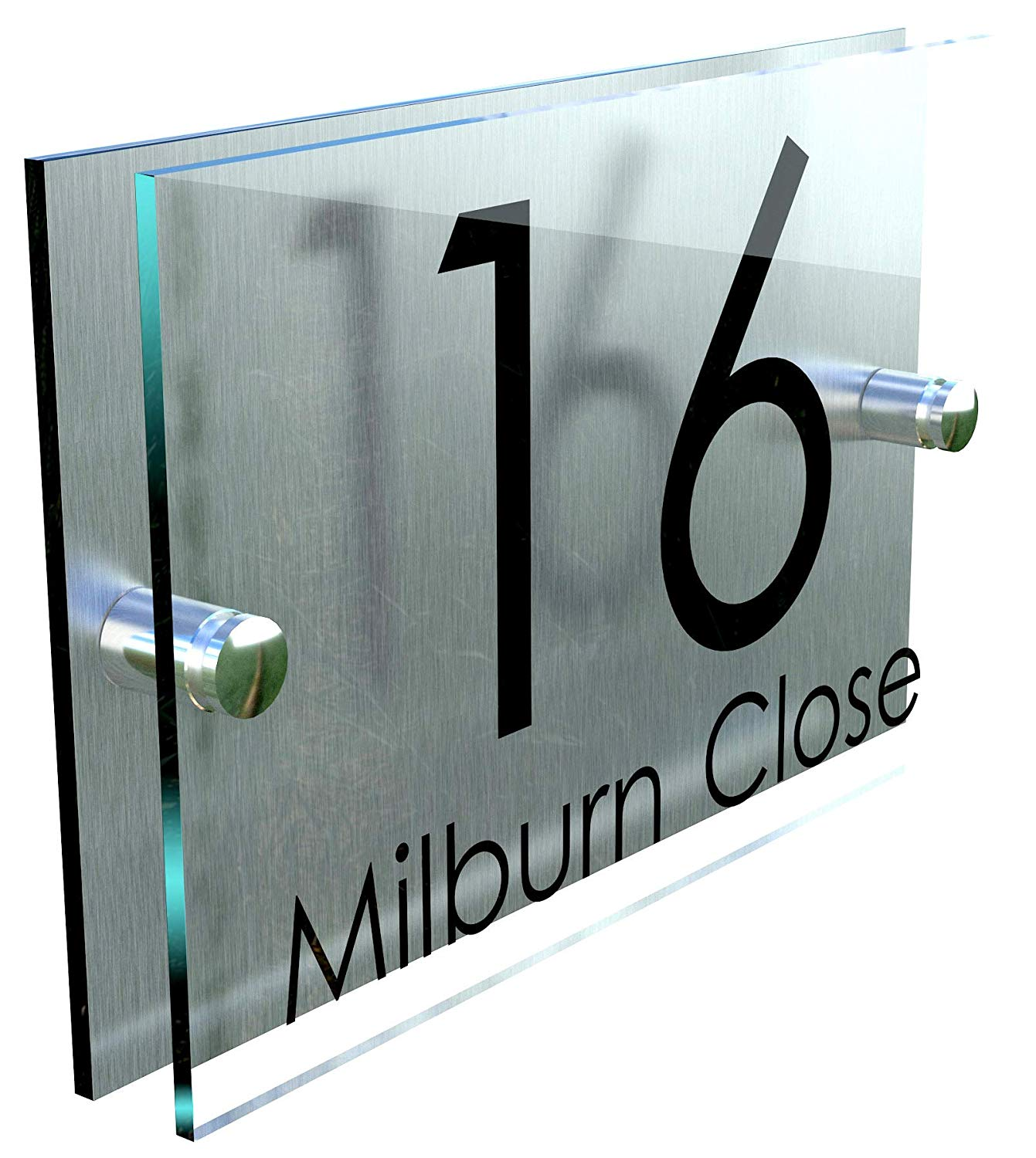 House number Modern Perspex Steel Aluminium Perspex Acrylic House Number Wall Plaque Sign Door sign