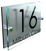 Modern Perspex Steel Aluminium Perspex Acrylic House Number Wall Plaque Sign