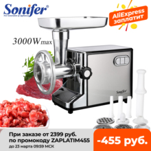 Meat-Grinders Food-Processor Sausage Mince Stuffer Electric Stainless-Steel Sonifer Home-Meat