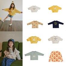 Kids Sweatshirt Korean Brand 2020 New Autumn Boys T-shirts Baby Girls Clothes Cotton Soft Tee Tops Shirt Children Sweatshirts