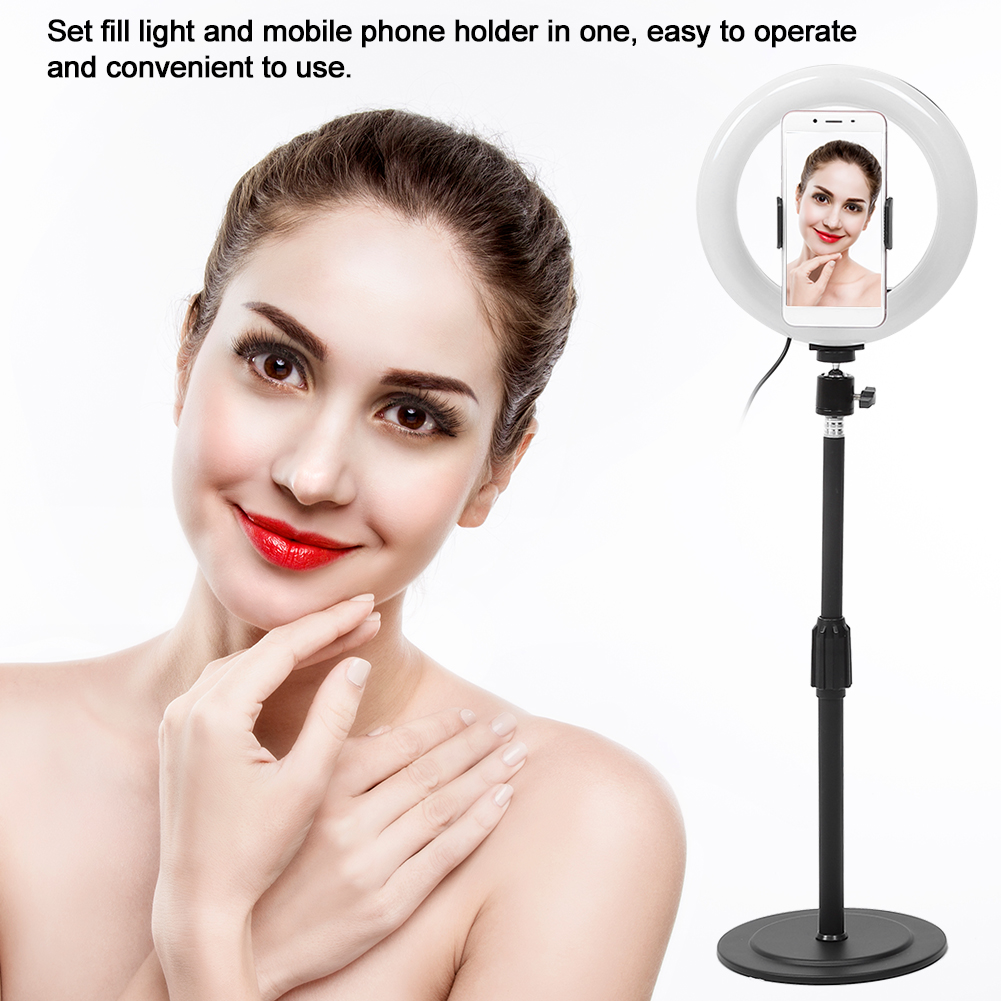 cheapest 10 Inch Selfie Ring Fill Light 26CM Tripod Bluetooth Remote Control Portable Self-Timer Photography Stand for Livestreaming