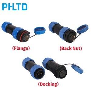 Image 1 - Conector a prueba de agua SP21, Conector de Cable y enchufe macho y hembra 2 3 4 5 6 7 9 12P, conector rápido