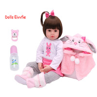 48cm Baby Toy Dolls Soft Silicone Vinyl Reborn Baby Girl Dolls bebe reborn Dolls Toys House Play Child Plamates