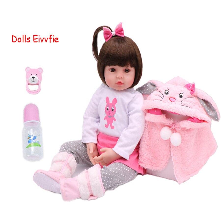 48cm bébé jouet poupées Silicone souple vinyle Reborn bébé fille poupées bebe reborn poupées jouets maison jouer enfant Plamates