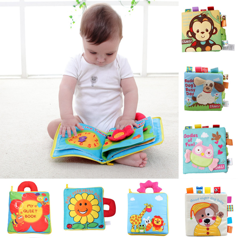 Baby Rustle Intelligence Development Soft Cloth Cognize Goodnight Books Toy Z