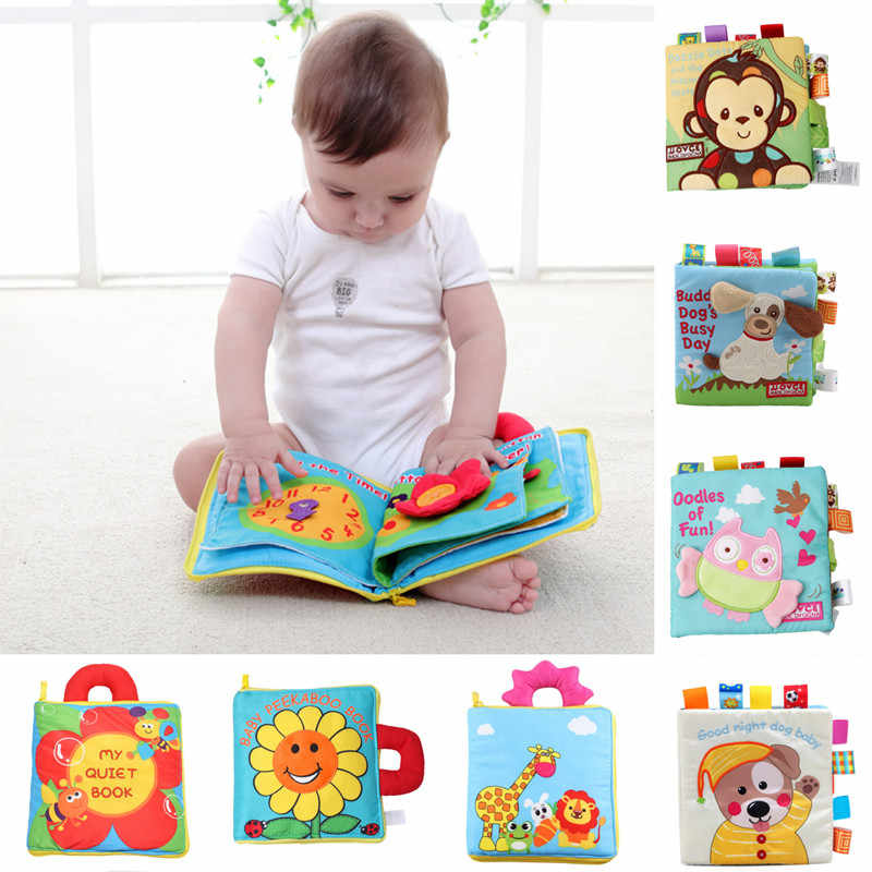 LEADSTAR Baby Cloth Books Baby Toys 0-6 Months,3D Books Fabric Tail Games Activity for Toddlers Safe Nontoxic Biteable Early Learning Babies First Books Intelligence Education 2Pcs Quiet Book