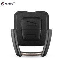 KEYYOU – coque de clé télécommande à 2 boutons, sans puce, lame non coupée, pour Vauxhall, Opel, Astra, Zafira, Omega, Vectra