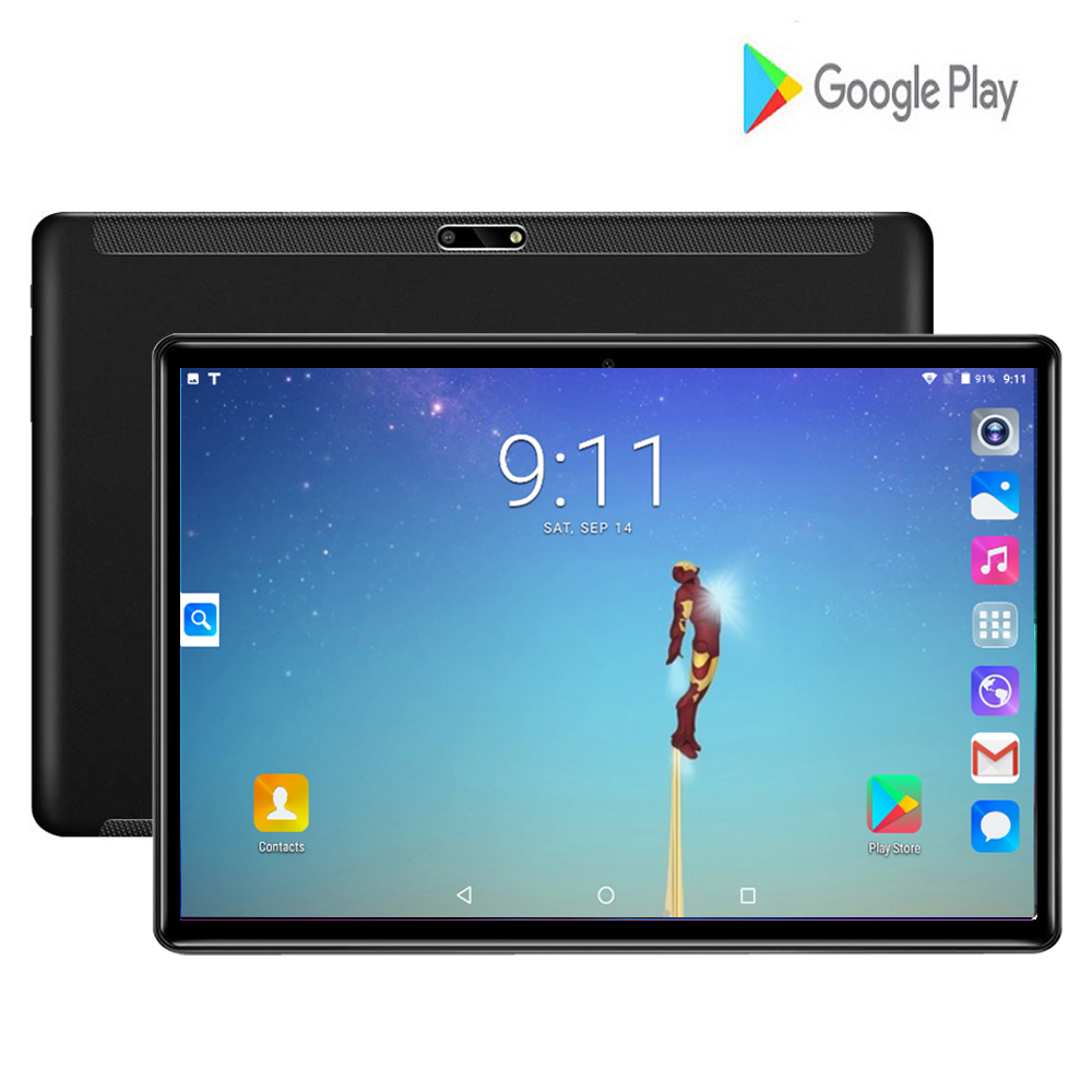 2020 New 10 Inch Tablet PC Quad Core 2GB RAM 32GB ROM Android 7.0 WiFi Bluetooth Dual SIM Cards 3G WCDMA Tablets+Gifts