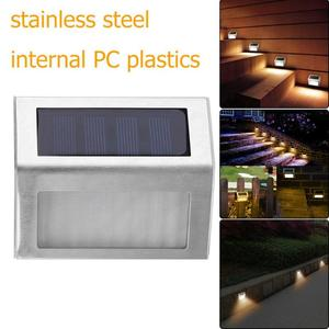 3LED 6LED Stainless Steel Solar Garden Light Lamps for Outdoor Illuminates Stairs Paths Deck Patio LED Solar Power Street Light(China)