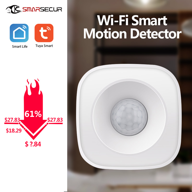 Motion PIR Sensor Detector WIFI Movement Sensor Smart Life APP Wireless Home Security System