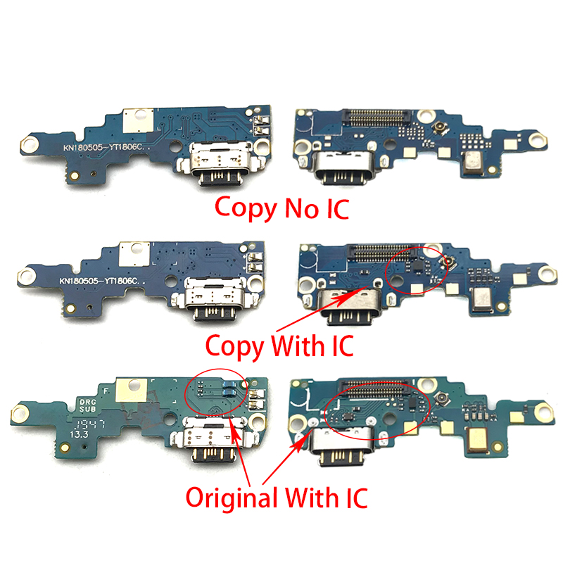 For Nokia X6/ 6.1 Plus TA-1099/1103 USB Micro Charger Charging Port Dock Connector Microphone Board Flex Cable