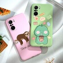 Poco F3 Case Candy Kleur Telefoon Cover Voor Xiaomi Poco F3 Pro Soft Tpu Siliconen Terug Coque Poco F3 F 3 6.67 Inch Cartoon Tpu