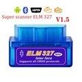 Автомобильный считыватель кодов Super elm327 V1.5, автомобильный инструмент с функцией Bluetooth, Автомобильный сканер OBD2 ELM 327 Bluetooth 4,0 для телефонов ...