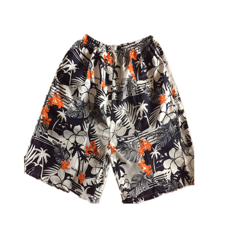 Men's Quick-Dry Beach Shorts Soft Breathable Casual Loose And Plus-sized Casual Short Sports Drifting Stall
