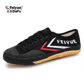 Buty DAFUFEIYUE oryginalne trampki klasyczne buty sztuki walki Taichi Taekwondo Wushu Kungfu miękkie trampki mężczyźni kobiety buty tanie i dobre opinie Unisex CN (pochodzenie) RUBBER Sznurowane Dobrze pasuje do rozmiaru wybierz swój normalny rozmiar Spring2016 PŁÓTNO