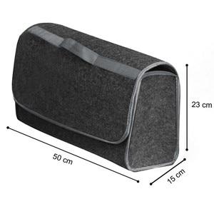 Image 3 - Auto Lagerung Tragbare Faltbare Mehrzweck Fühlte Tuch Falten Lagerung Box Organizer Fall Tools Auto organizer box für Auto Lkw