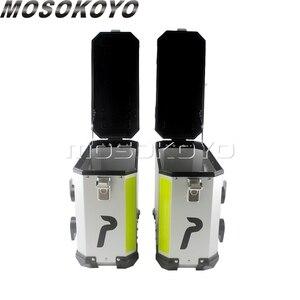 Image 4 - Sidecases universales de 36L para motocicleta, caja con estante y caja superior de almacenamiento de carga de 45L para BMW, Yamaha, Suzuki, Honda, NC700X, NC750X