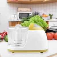 Kitchen Manual Food Processor Mixer Egg Blender Meat Grinder Vegetable Chopper Shredder Stainless Steel Blade Cutter(EU Plug)|Meat Grinders|   -