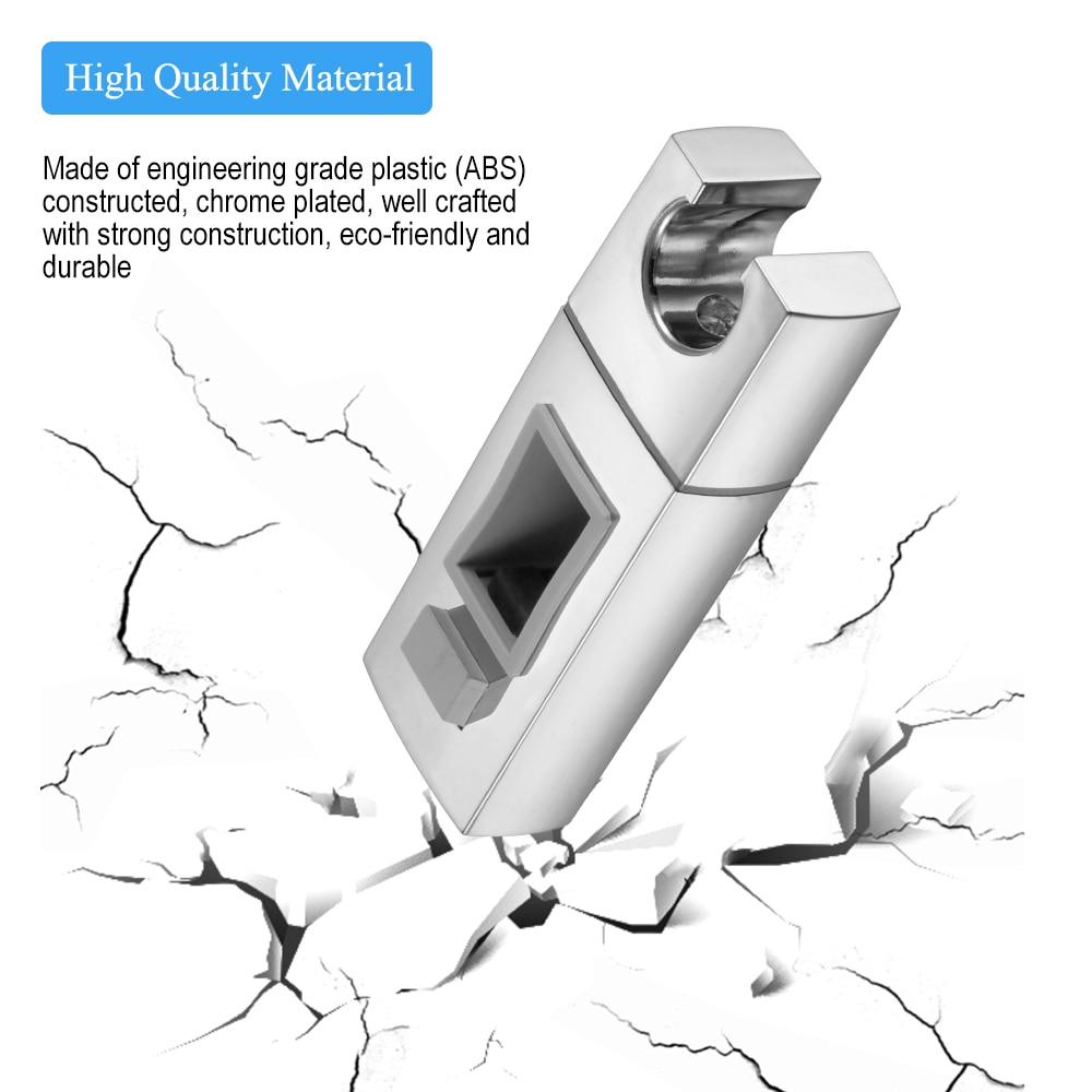 ABS Replacement Sturdy Bathroom Shower Rail Head Slider Holder Adjustable Bracket Made In Sturdy Bathroom Accessory