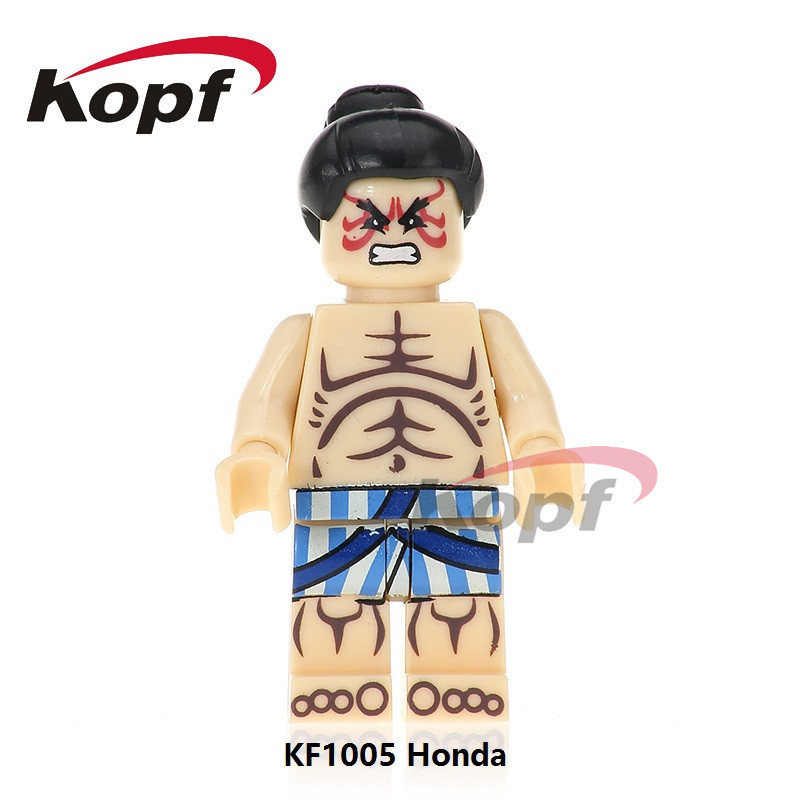 Kefeng Building Blocks Kf1003 Arcade Crazy Game Street Fighter Eight-Character Guile Assembled Doll Toy Bag image
