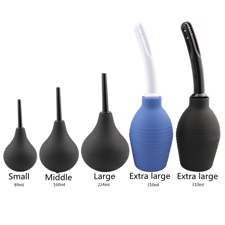 160ml/220ml/310ml Enema Rectal Shower Cleaning System Medical Materials Silicone Ball For Anal Anus Colon Enema Anal Cleaning