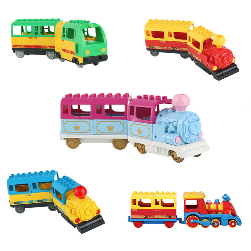 Diy Building Blocks Duploed Battery Power Train High Quality ABS Toys For Children DIY Game Educational Toy Kids Gift