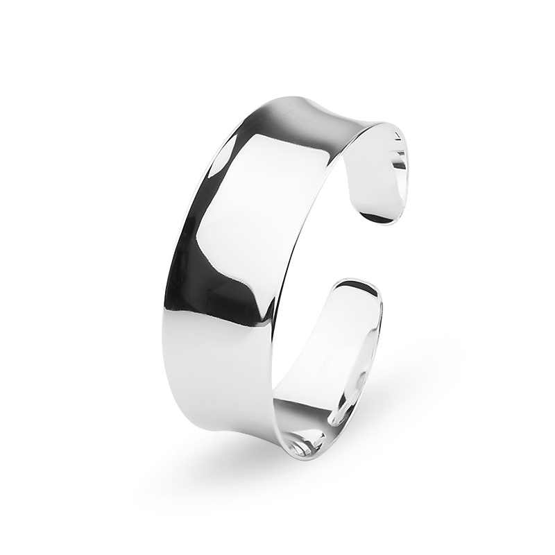 MISANANRYNE Nice Shipping 1PC silver color Fashion Shiny Smooth wide Cuff Bracelet Bangle