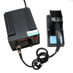 Image 3 - 110V 220V 967 Electric Rework Soldering Station Iron LCD Display Desoldering SMD   M12 dropship