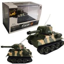 Super Mini Tiger RC-tanque a escala para niños, juguete electrónico controlado por Radio Control remoto