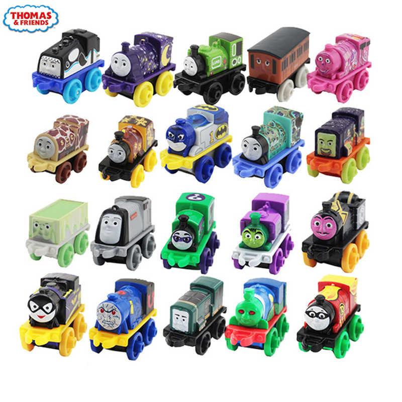 Original Mini locomotiveTrain model car Kids Toys For Children Diecast Brinquedos Education Birthday Gift