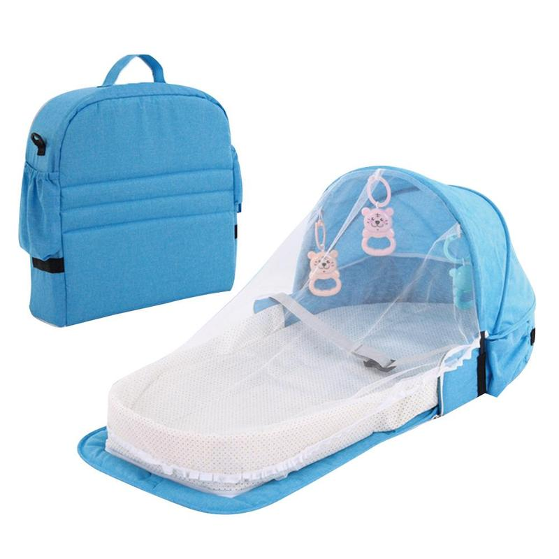 Portable Baby Foldable Bed Travel Sun Protection With Mosquito Net Baby Breathable Infant Sleeping Basket Safety Isolation Bed