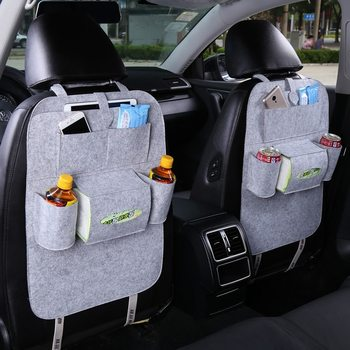 Car Seat Back Organizer Storage Bag Trash Net Holder Multi-Pocket Travel Storage Bag Hanger for Auto Capacity Storage Pouch 1PC image