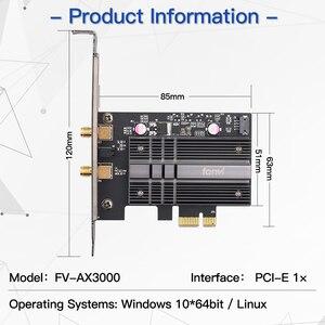 Image 5 - デュアルバンド2.4 5gbpsワイヤレスwifi 6アダプタAX200 bluetooth 5.1 802.11axデスクトップpci e無線lanカード用のAX200NGWネットワークwlanカード