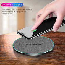 Buy 10W Fast Charger Qi Wireless Charging Pad Phone Charger Dock for Iphone X Xs Xr 8plus 8 Samsung S10 S9 S8 S7 Note 9 8 5 directly from merchant!