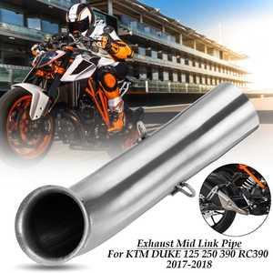 Глушитель выхлопной трубы для мотоцикла, переходник средней трубы, система Слипоны для KTM DUKE 390 250 125 Duke RC 390 RC390 на весь год