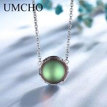 UMCHO Aurora Borealis Halskette Anhänger 925 Sterling Silber Elegante Schmuck für Frauen Geburtstage Romantische Geschenk für Mädchen Freund