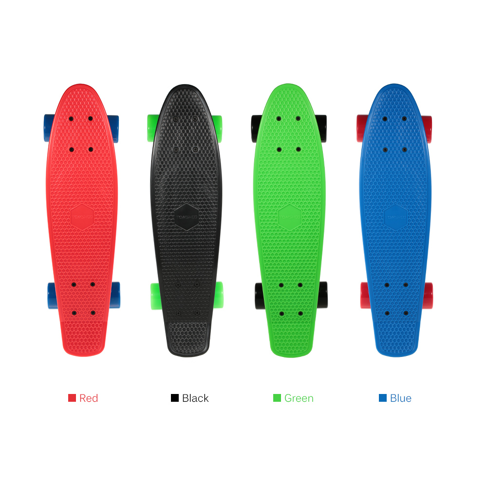 Skateboard Skateboarding 22 Inch Fish Cruiser Board PU 4 Wheels Skate Board Complete Deck Skateboard