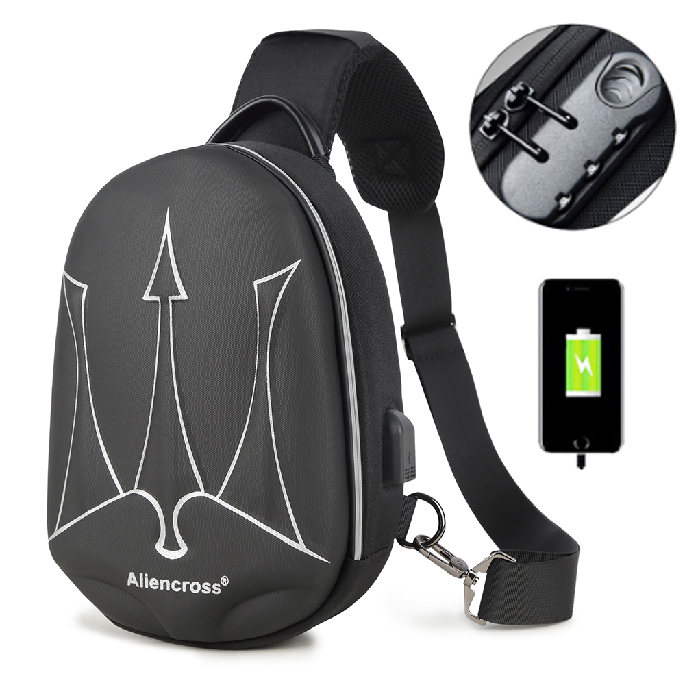 2020 Men Shoulder Bag Anti-theft Shoulder Messenger Bags For Male Waterproof Short Trip Chest Bag Pack New Multifunction USB