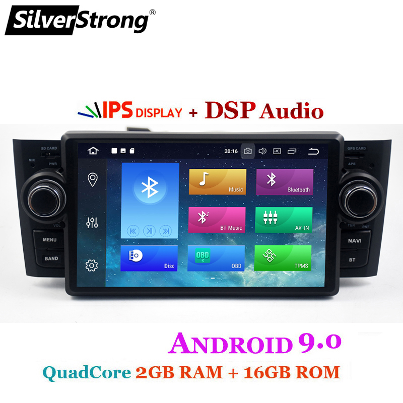 Car Multimedia player GPS Android 9.0 Car Radio 1 Din DVD Automotivo For Fiat Grande Punto Linea 2007-2012 Radio FM DSP bt wifi ips (2)