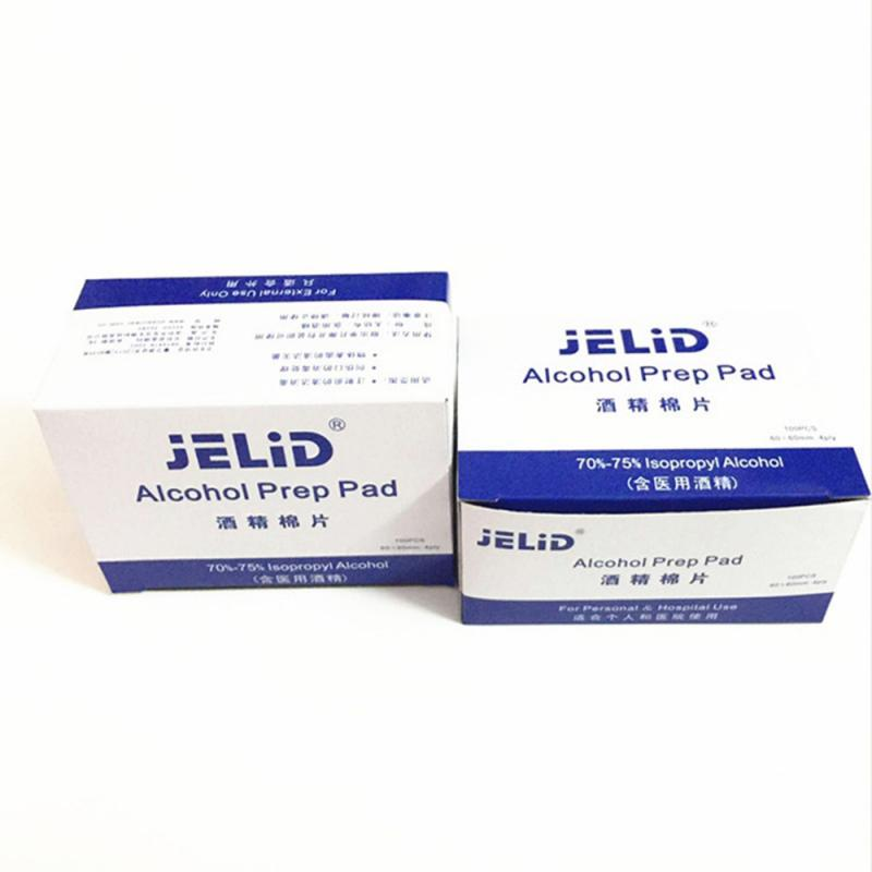 100pcs/box Disposable Alcohol Cotton Mobile Phone Wound Blood Disinfection Alcohol Sheet Health Alcohol Wet Wipe Wholesale TSLM1