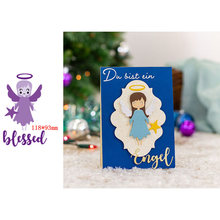 Kind and Lovely Little Angel Wing Star Blessed Word Metal Cutting Dies Scrapbooking Album Paper DIY Cards Crafts Embossing Dies New 2019(China)