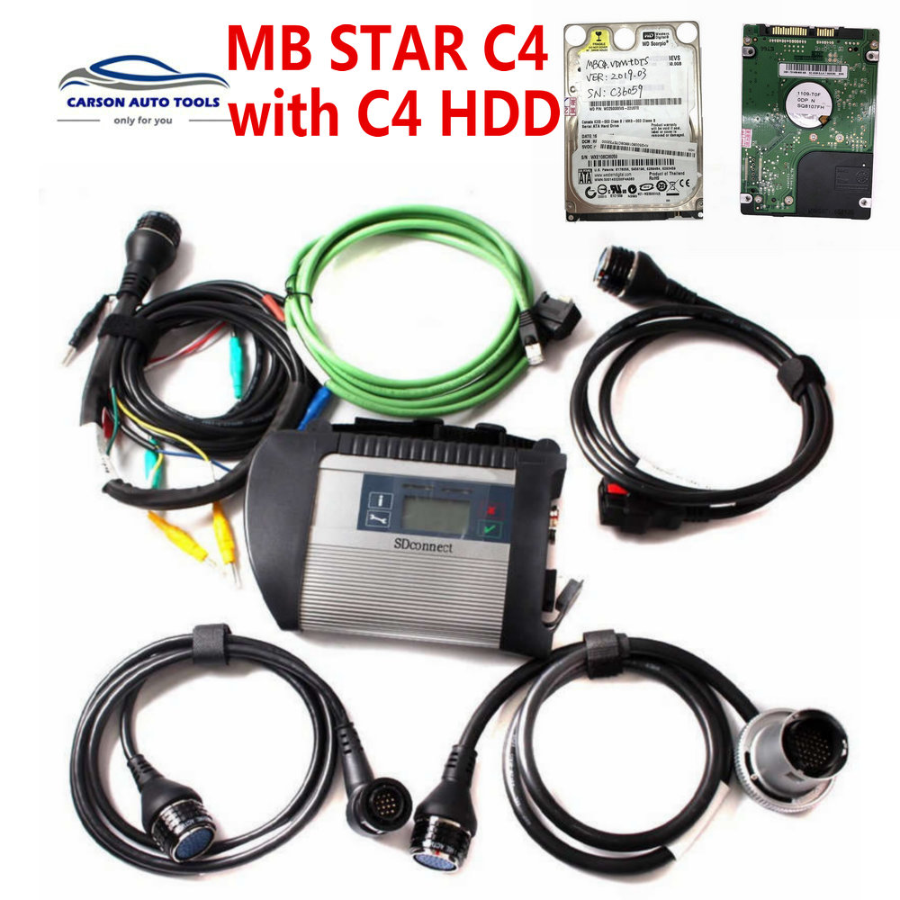 Super Quality SD Connect MB STAR C4 multiplexer Compact 4 WIFI  Multi language Diagnostic Tool MB C4 main unit no HDD software wifi connect hdd toolsstar c4 - AliExpress