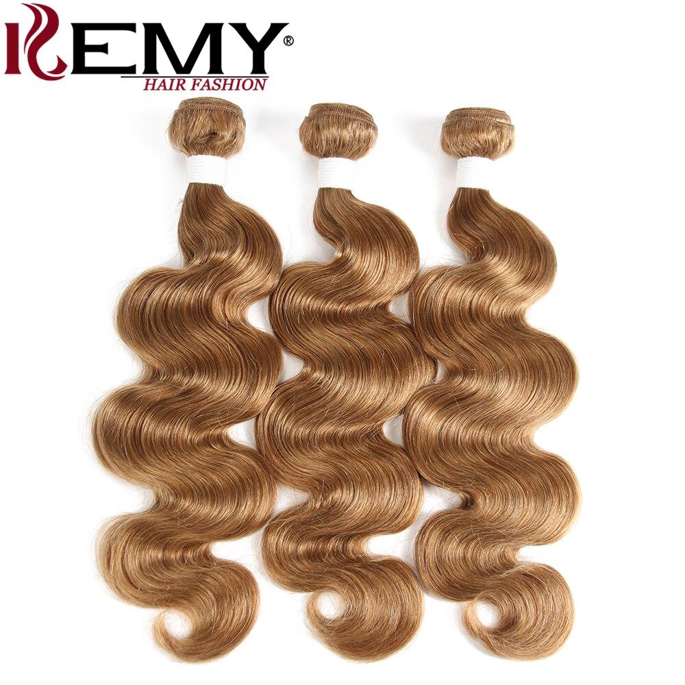 Jasny brąz ludzkie włosy wyplata wiązki KEMY włosów brazylijski ciało fala człowieka wiązki włosów 3 zestawy/4 sztuk 100% nie  Remy włosów ludzkich rozszerzenie w Warkocze od Przedłużanie włosów i peruki na AliExpress - 11.11_Double 11Singles' Day 1