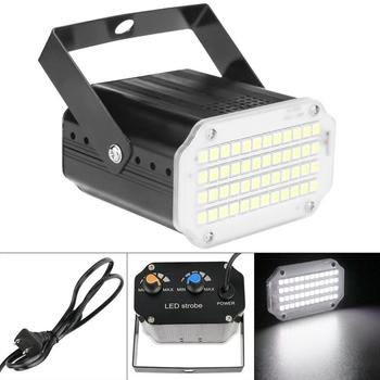 цена на 48 LED 12W Stage Effect Light Flashing White Light Remote Sound Activated Disco Lights for Festival Parties / KTV / Christmas